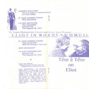 T.S. Eliot Centennial Celebration Program