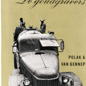 Proof of the cover for <em>De Goudgravers</em>, the Dutch version of <em>The Gold Diggers</em> by Robert Creeley