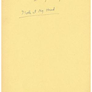 """I Look at My Hand"" by May Swenson"