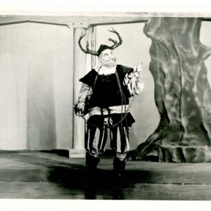 David Wagoner dressed as Falstaff