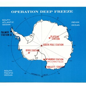 Postcard depicting Operation Deep Freeze.