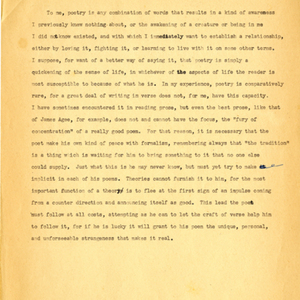 Untitled Statement Concerning Poetry by James Dickey