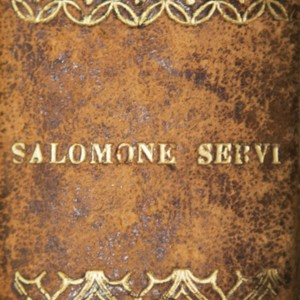 Stamped Book Spine of Salomone Servi