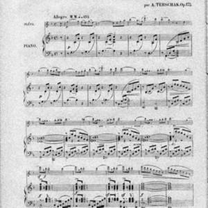 3me sonate : pour flûte et piano : op. 175 / par A. Terschak : transcription pour violon et piano ar c. Hausenblass.
