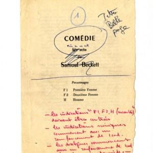 <em>Comedie</em> by Samuel Beckett