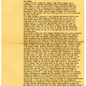 James Merrill letter to Hellen Ingram Plummer<br />
