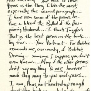 Autograph letter, signed from Lawrence Ferlinghetti to Robert Creeley, April 10, 1957