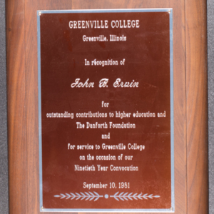 Greenville College award