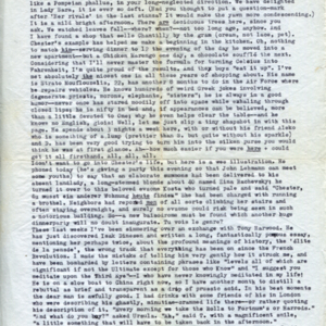 James Merrill letter to Daryl Hine<br />