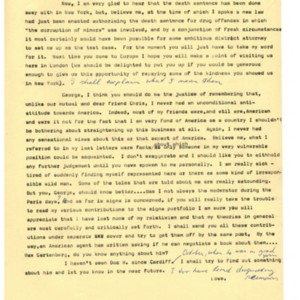 Typed letter [carbon] from Alexander Trocchi to George Plimpton, May 7, 1966