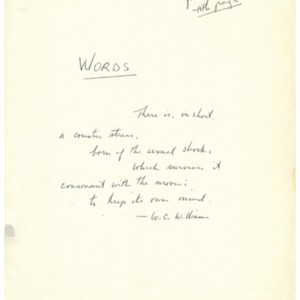 <em>Words</em> by Robert Creeley