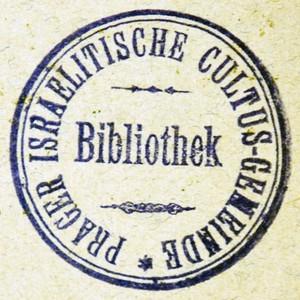 Bookstamp of Prager Israelitische Cultus-Gemeinde Bibliothek