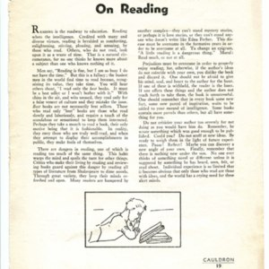 """Editor Bill Gass Waxes Baconian With an Essay...On Reading"""