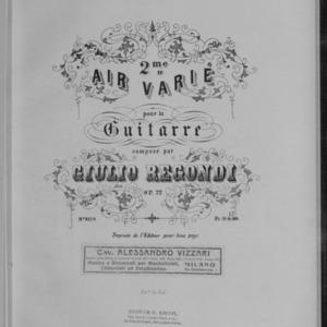 2me air varié : pour la guitarre, op. 22 / composé par Giulio Regondi.