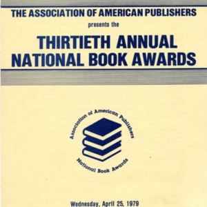Thirtieth Annual National Book Awards program, April 25, 1979
