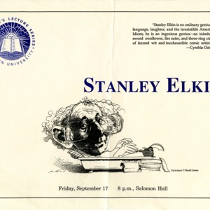 """Stanley Elkin,"" President's Lecture Series, Brown University"