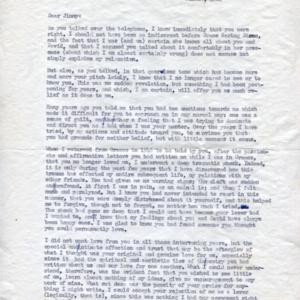 Kimon Friar letter to James Merrill<br />