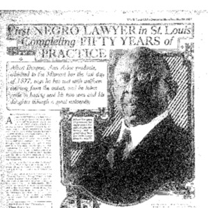 First Negro Lawyer in St. Louis Completing Fifty Years of Practice