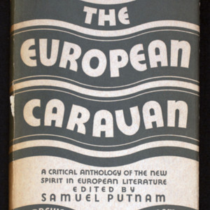 "<p class=""p1""><em>The European caravan : A Critical Anthology of the New Spirit in European Literature</em><span class=""Apple-converted-space"">&nbsp;</span></p>"