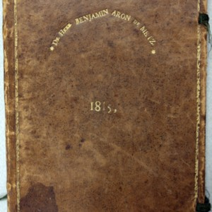 Stamped Book Cover of Benjamin Aron de Metz