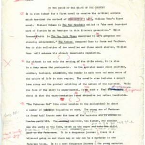 Printer's final copy of <em>In the Heart of the Heart of the Country,</em> July 6, 1967