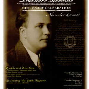 """Theodore Roethke Centenary Celebration"""