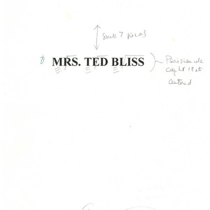 Copy-edited typescript of<em> Mrs. Ted Bliss</em> by Stanley Elkin