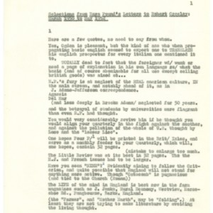 Selections from Ezra Pound's Letters to Robert Creeley: March 1950 to May 1952