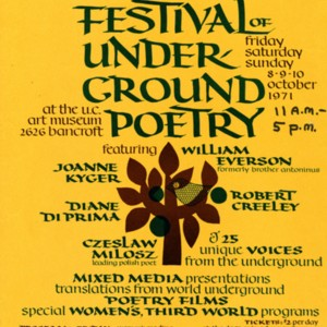"""Festival of Underground Poetry"""
