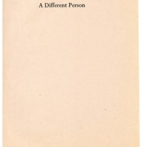 Page proofs of <em>A Different Person</em> by James Merrill