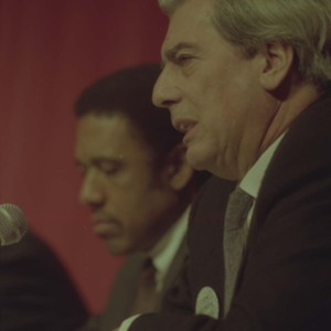 James McLeod and Mario Vargas Llosa at the Writer in Politics Conference
