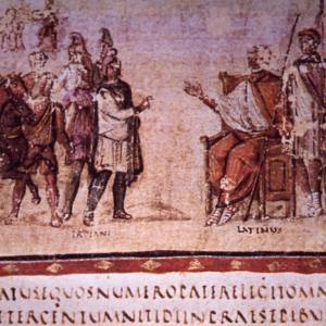 Aeneas meets Latinus