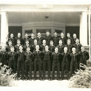 David Wagoner with his fellow United States Navy cadets