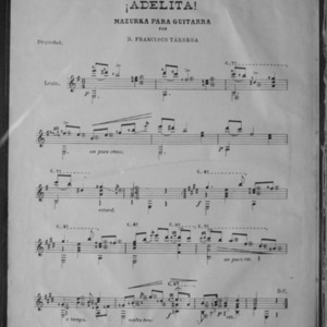 ¡Adelita! / mazurka para guitarra por D. Francisco Tárrega.