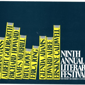 """Ninth Annual Literary Festival"" sponsored by Southern Methodist University"