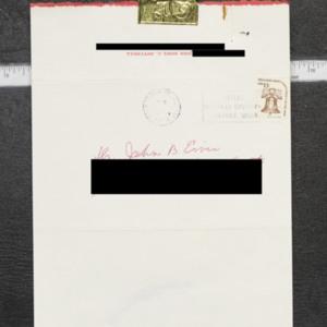 Letter from Mrs. Noel C. Mitchell to Dr. John B. Ervin