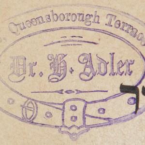 Bookstamp of Hermann Adler