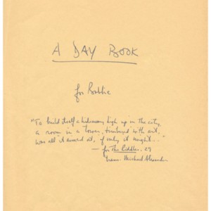 <em>A Day Book</em> by Robert Creeley