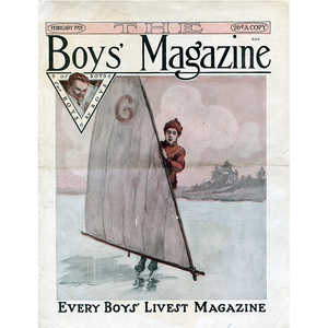 February 1921 Boys Magazine Cover