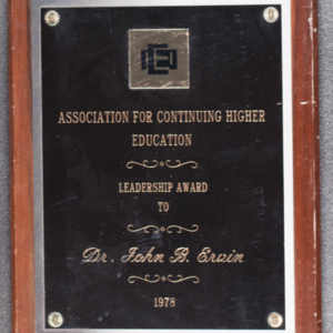 Association for Continuing Higher Education Leadership Award