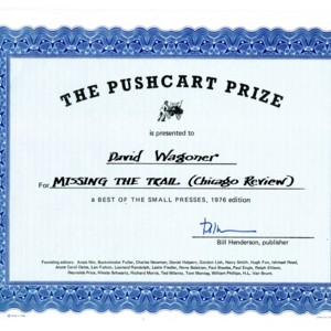 "The Pushcart Prize for ""Missing the Trail"" by David Wagoner"