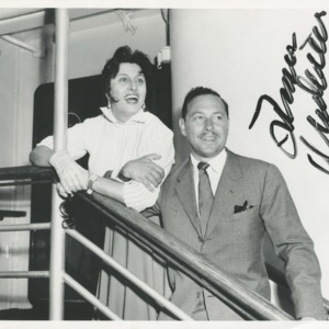 Anna Magnani and Tennessee Williams on the <em>Andrea Doria</em>