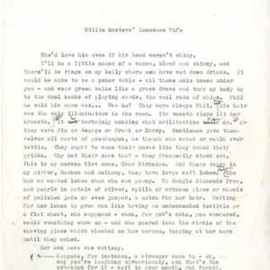 Typescript drafts of <em>Willie Masters' Lonesome Wife</em>