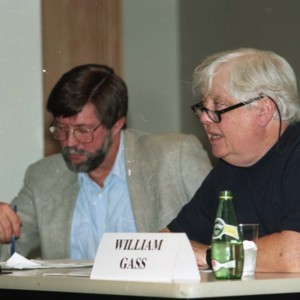 Wayne Fields and William Gass at the Writer and Religion Conference