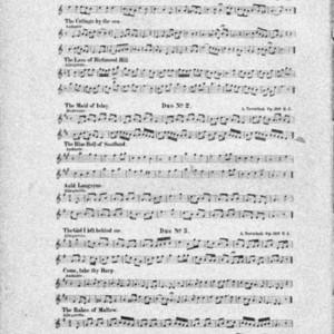 3 duos über englische, schottische und irische volkslieder : für Flöte und Piano : op. 166. Heft 3, Kleeblatt (irisch) / von A. Terschak.