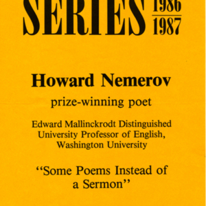 """Some Poems Instead of a Sermon"""