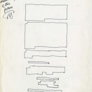 Sketch layout of <em>Six Prose Piece</em>s by Robert Duncan