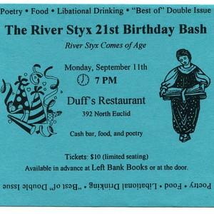 """""""River Styx 21st Birthday Bash"""" Invitation"""