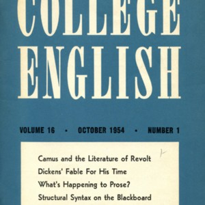 """What's Happening to Prose?"" by Mona Van Duyn from <em>College English </em>"