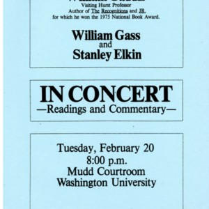 """William Gaddis, William Gass, and Stanley Elkin In Concert"""